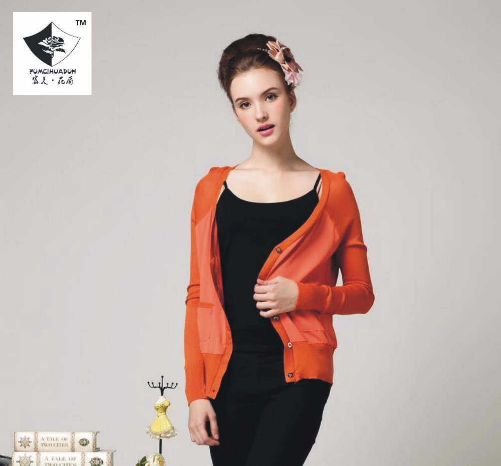SPS093 Mujeres Un nuevo sencillo suéter cardigan largo manga corta chaqueta de c