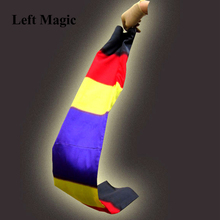 Change Color Scarf Magic tricks Black To Rainbow Silk Streame Tricks magia Props Funny stage Close Up Magie E3061