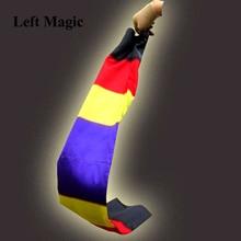 Change Color Scarf Magic tricks Black To Rainbow Silk Streame Magic Tricks magia Props Funny stage Close Up Magie E3061 недорого
