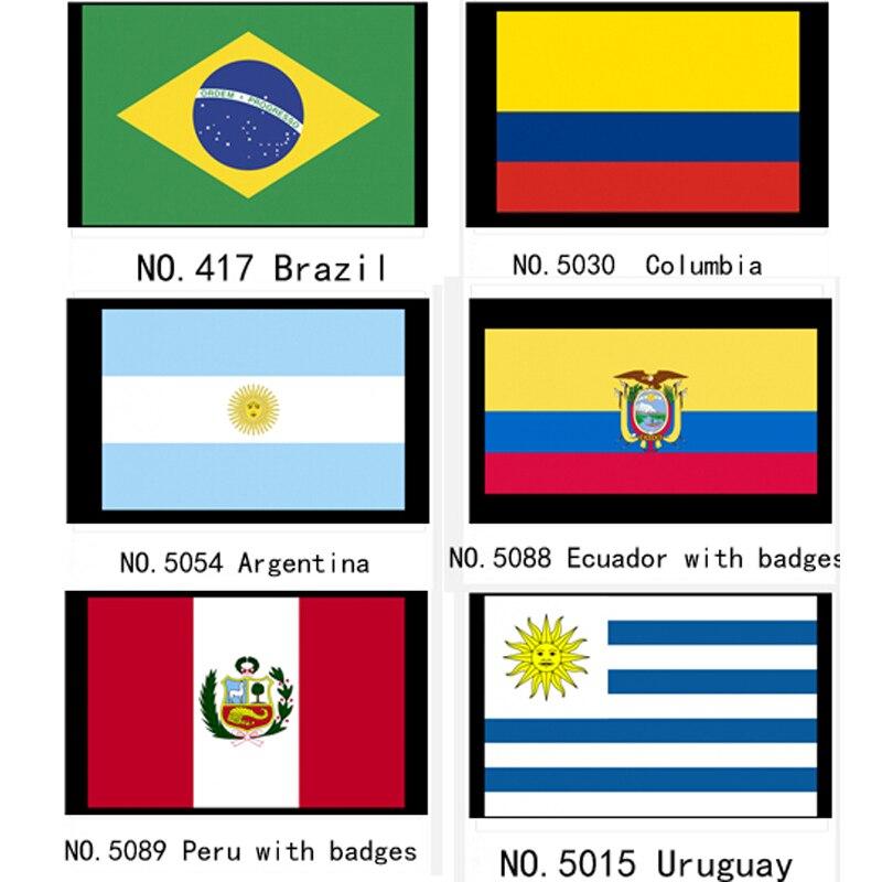 Efficient Brazil Uruguay Columbia Argentina Ecuador Peru Educational Equipment National Flag Banner Rich And Magnificent