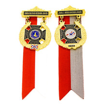 Medal custom hot sales cheap costing medals metal gold painted medal with tape