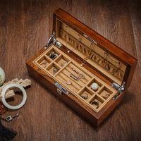 Europe Solid wood double jewellery box Jewelry collection storage box with lock toys organizer storage cosmetic storage MSSH004