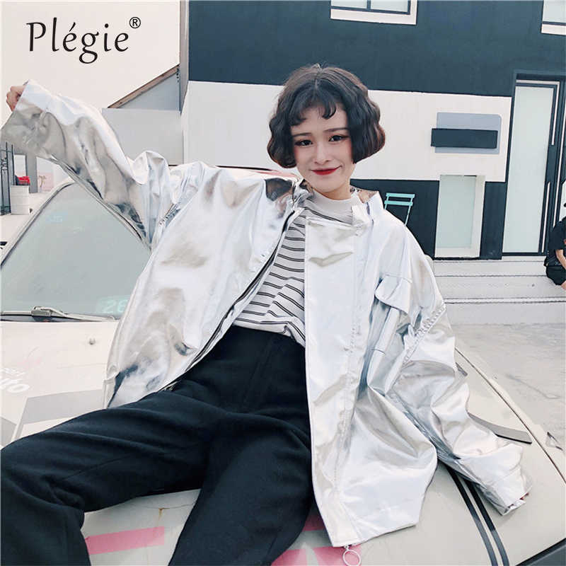 Plegie Harajuku Übergroßen Jacke Frauen 2019 Frühling Herbst Neue Ankunft Outwear Mantel Hip Hop Streetwear Lose BF Stil Jacken