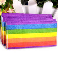 HAOCHU 50 pcs serviette papier de soie vierge bois arc-en-ciel pour enfant fête d'anniversaire décor 3 plis mouchoir mariage décoratif fournisseur