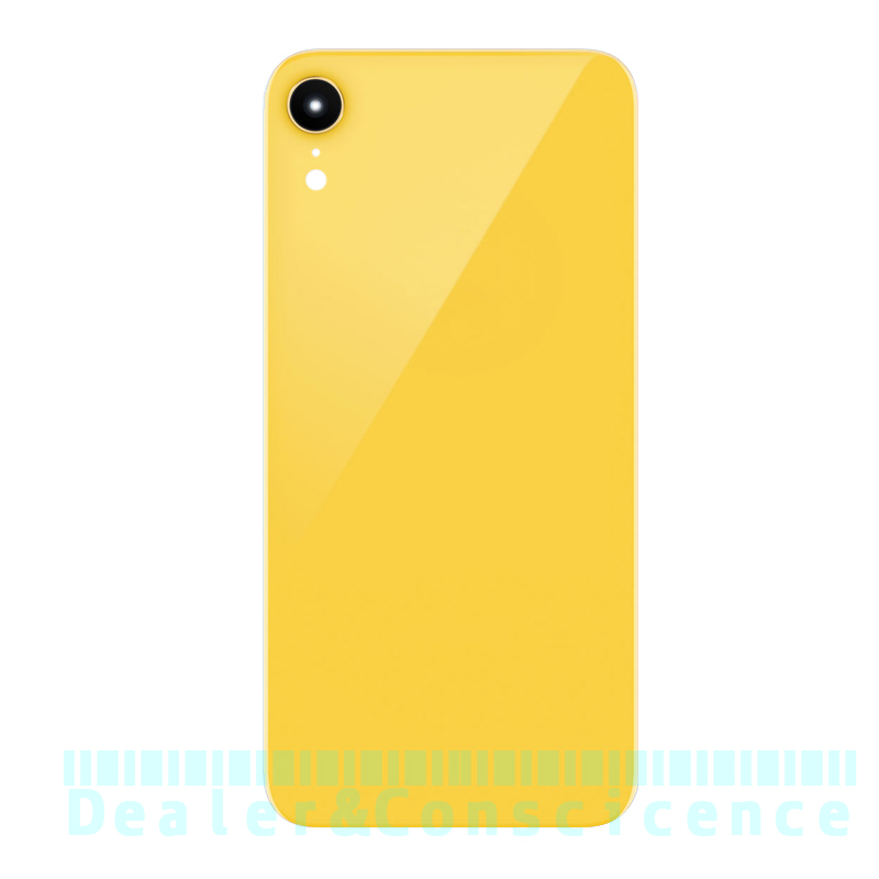 10Pcs (All Checked no spot) Glass Housing Case For Apple iPhone XR Back Battery Cover Rear Door Panel with Camera Lens and Glue