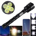 Vastfire 10000lm 5x xm-l t6 led tocha 5 modos tático spotlight caça lanterna 3x1 8650 recarregável + carregador de bateria