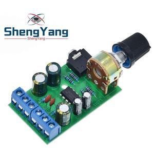Image 4 - ShengYang Mini DC 3.7 ~ 12V 5V TDA2822M 2.0 CH Stereo Âm Thanh Bộ Khuếch Đại Công Suất Tàu 3.5Mm AUX