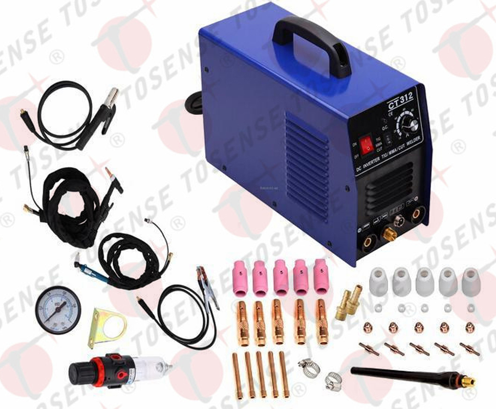 2016 FREE SHIPPING 110V/220V 120A CT312 3IN1 ARC Digital TIG/MMA/CUT Welding Machine plasma cutter 5 sets welding accessories