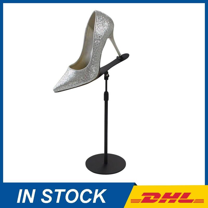 Black Shoe Display Stands, Metal Shoe Store Display Racks, retail shoe store display furniture