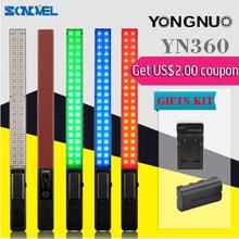 YONGNUO YN360 yn-360 Ручной Светодиодный Свет 5500 К RGB 39.5 СМ Палкой ЛЕД Профессиональная фотосъемка СВЕТОДИОДНЫЙ Bluetooth 4.0 + БАТАРЕИ КОСТЮМ