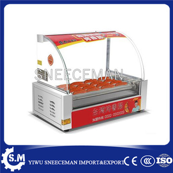 electric sausage 7 roller grill machine