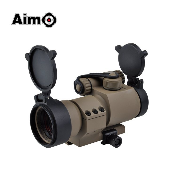 ФОТО Aim-O Hunting Red Dot Riflescope Airsoft M2 Micro M2 Replica L Shaped Mount For Air Gun AO5020