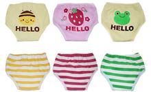 2pcs Super thick six layers waterproof baby training pants potty panties infant cloth diaper pant newborn nappies free shipping