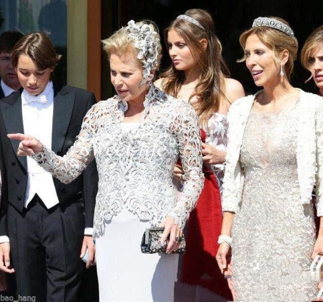 2019 mère de mariée robes costumes avec vestes gris dentelle 3 pièces thé longueur grande taille tenue formelle mariage fête invité robe - 3