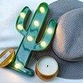 Bonito Luz do Cacto 3D Romântico Lâmpada LED Bebê Humor Lâmpada Night Light Romantic Dim Bateria 2AA Operado Quarto de Criança queda de potência