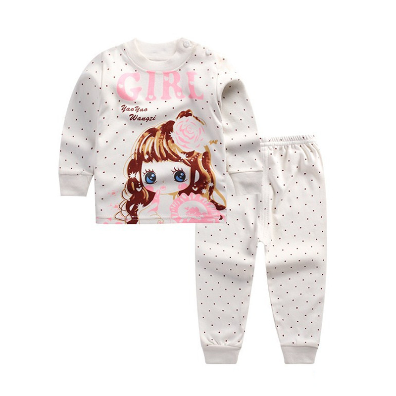 Autumn Winter Go well with Child Ladies Garments Set Cotton Lengthy Sleeve Informal Children Fits Clothes Units Youngsters's Pajamas Go well with