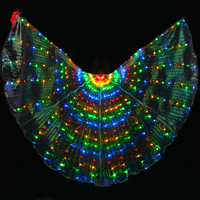 360 Led Belly Dance Isis Wings Rainbow Of Colors Of Halloween Props Photography With Flexible Spokes