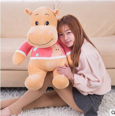 large 70cm cartoon pink cloth hippo plush toy soft doll throw pillow Christmas gift b0810 large 40cm pink hamtaro hamster plush toy soft throw pillow christmas gift w1890