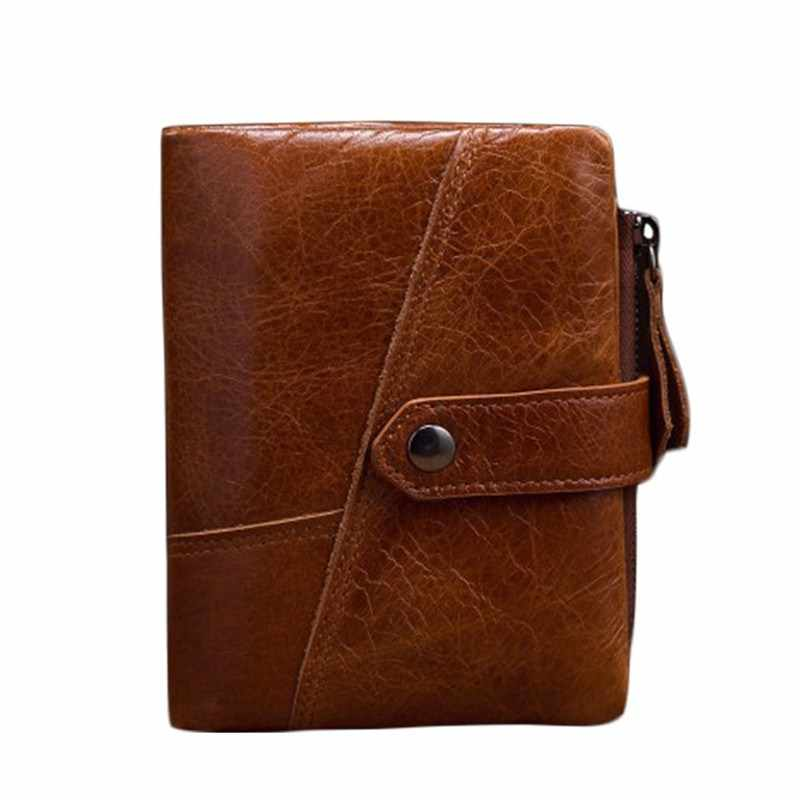 355d9ca4f2a9 New Genuine Leather Men Wallets Short Purse Card Holder Male Fashion Design  Coin Pocket Men s Leather