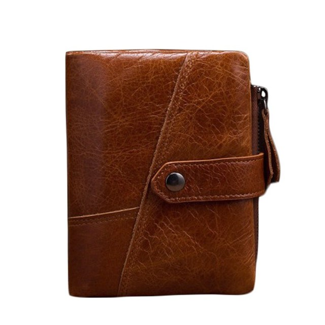 New Genuine Leather Men Wallets Short Purse Card Holder Male Fashion Design Coin Pocket Men's Leather Hasp Carteira Masculina