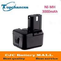 NI-MH 12 v 3000 mah Batterie für Hitachi EB1214S, EB1220BL, EB1220HL, EB1220HS DH15DV DN12DY DN12DYK DN12Y DW18D