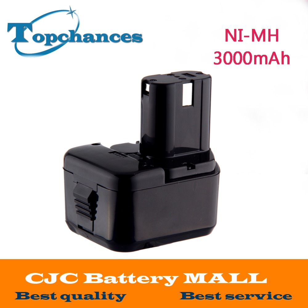 NI-MH 12V 3000mAh Battery for Hitachi EB1214S, EB1220BL,EB1220HL,EB1220HS DH15DV DN12DY DN12DYK DN12Y DW18D for hitachi 12v 3 0ah ni mh eb1214s ds12dvf3 batteries rechargeable power tool battery for eb1212s eb1214s eb1214l eb1220bl