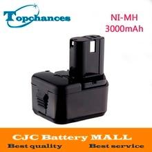 NI-MH 12 В 3000 мАч Аккумулятор для Hitachi EB1214S, EB1220BL, EB1220HL, EB1220HS DH15DV DN12DY DN12DYK DN12Y DW18D