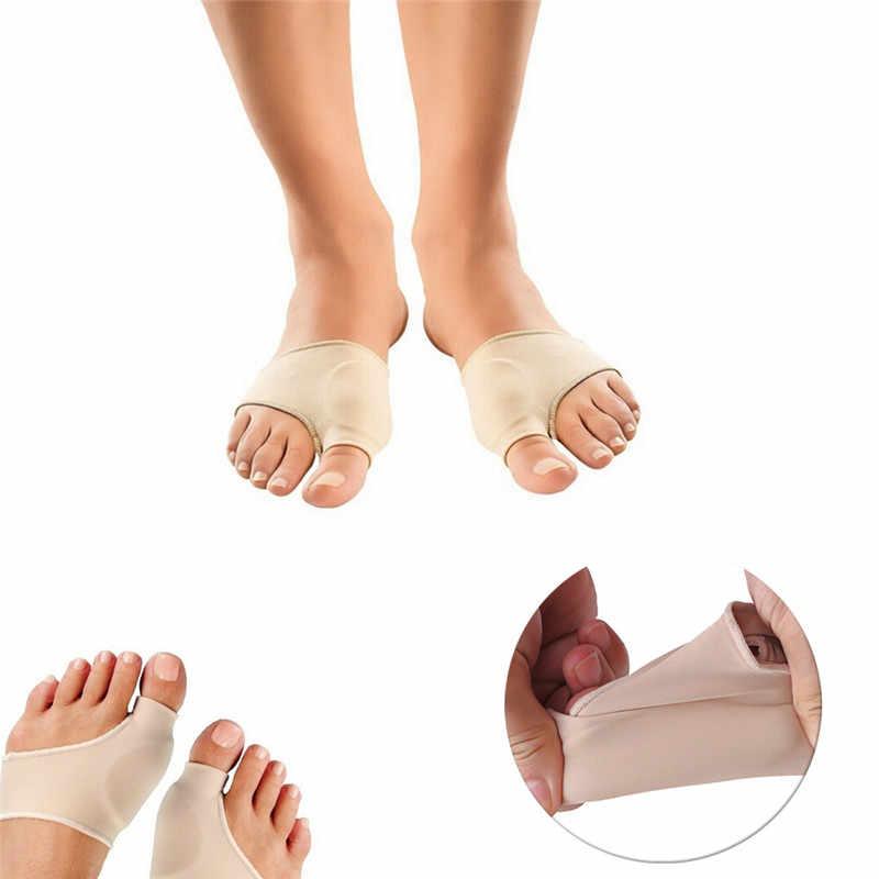 2Pcs = 1 คู่บิ๊กนิ้วเท้า Hallux Valgus Corrector กายอุปกรณ์เท้าดูแลกระดูก Thumb ปรับแก้ไขถุงเท้า Pedicure Bunion straightener