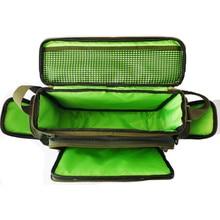 45x15x25cm Waterproof Fishing Bag 12000D Nylon Multifunctional Carp Fishing Package for Tool Tackle Lure Rod Bolsa De Pesca