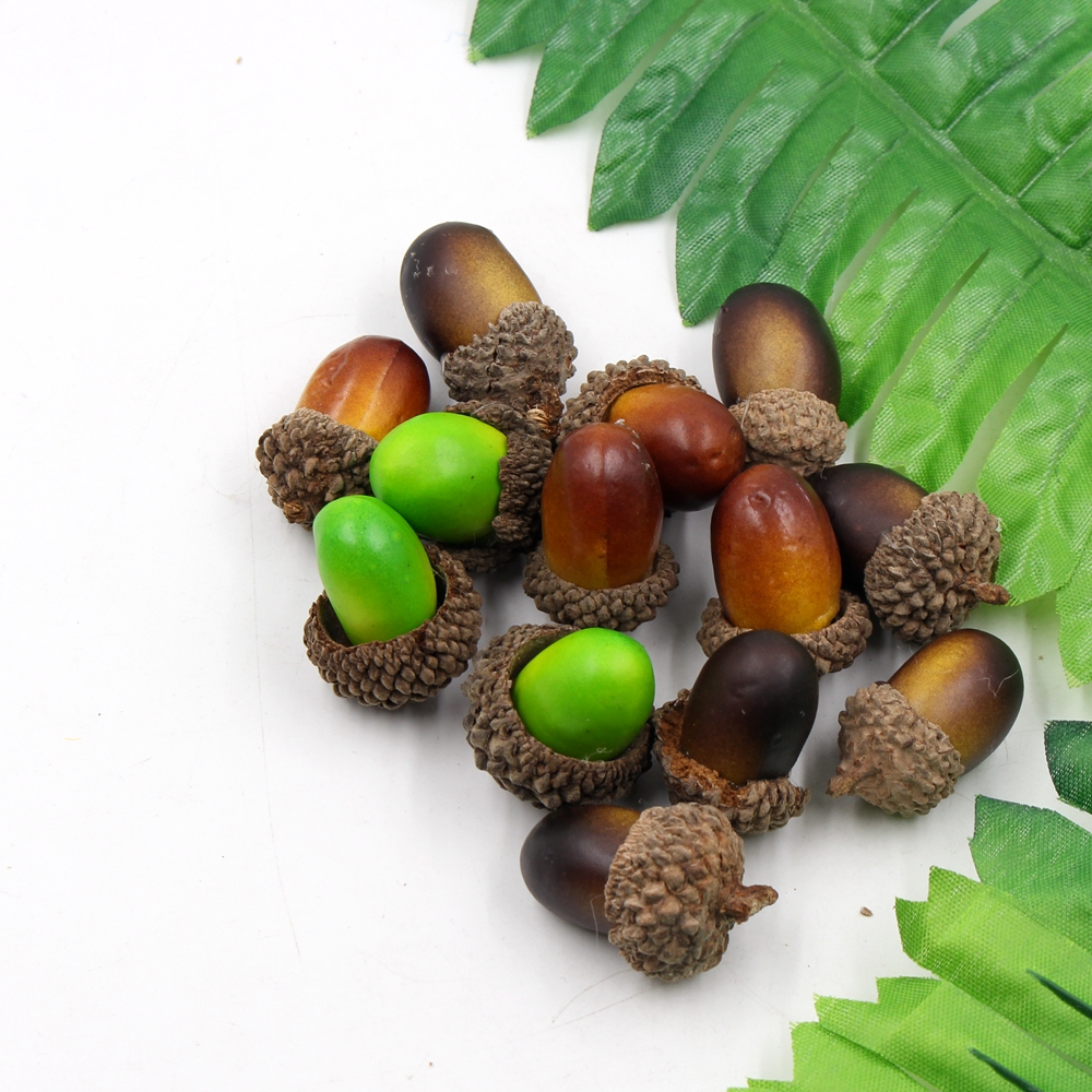 20pcs 3cm Pine Cones Handmade Artificial Flower Berry For Wedding Home Room Decoration DIY Box Scrapbooking Wreath Flowers