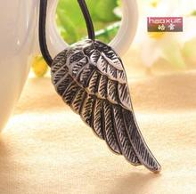 1pc men Fashion Angel Wing Choker Feather Collar Necklace Pendant