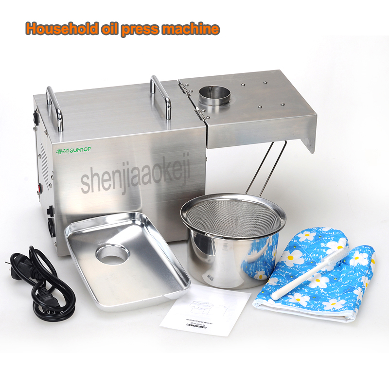 Image 5 - 220v/110v Home Use Oil Press Machine Stainless Steel Flaxseed oil extractor peanut oil Pressing Machine cold press oil machine-in Oil Pressers from Home Appliances