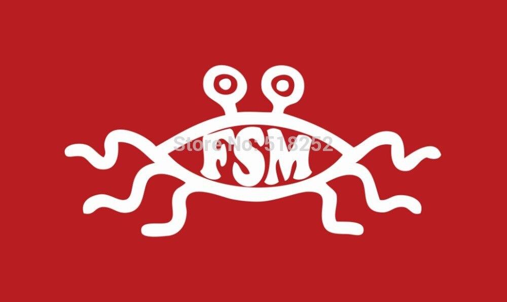 Small Flying Spaghetti Monster custom flag 3x5 FT banner, free shipping