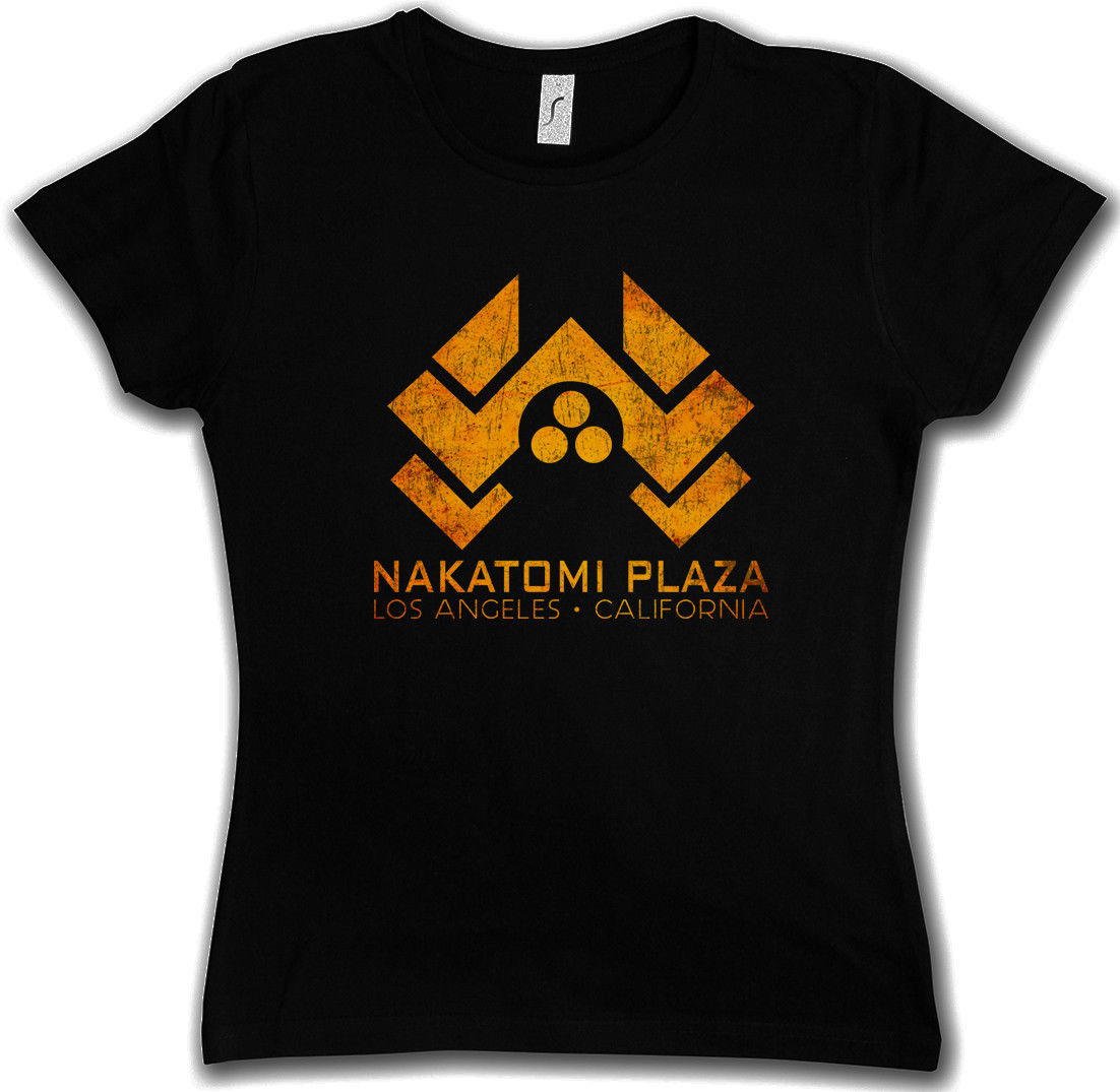 2018 Short Sleeve NAKATOMI PLAZA SIGN WOMAN T-SHIRT - Skyscraper Hard Fox Bureau