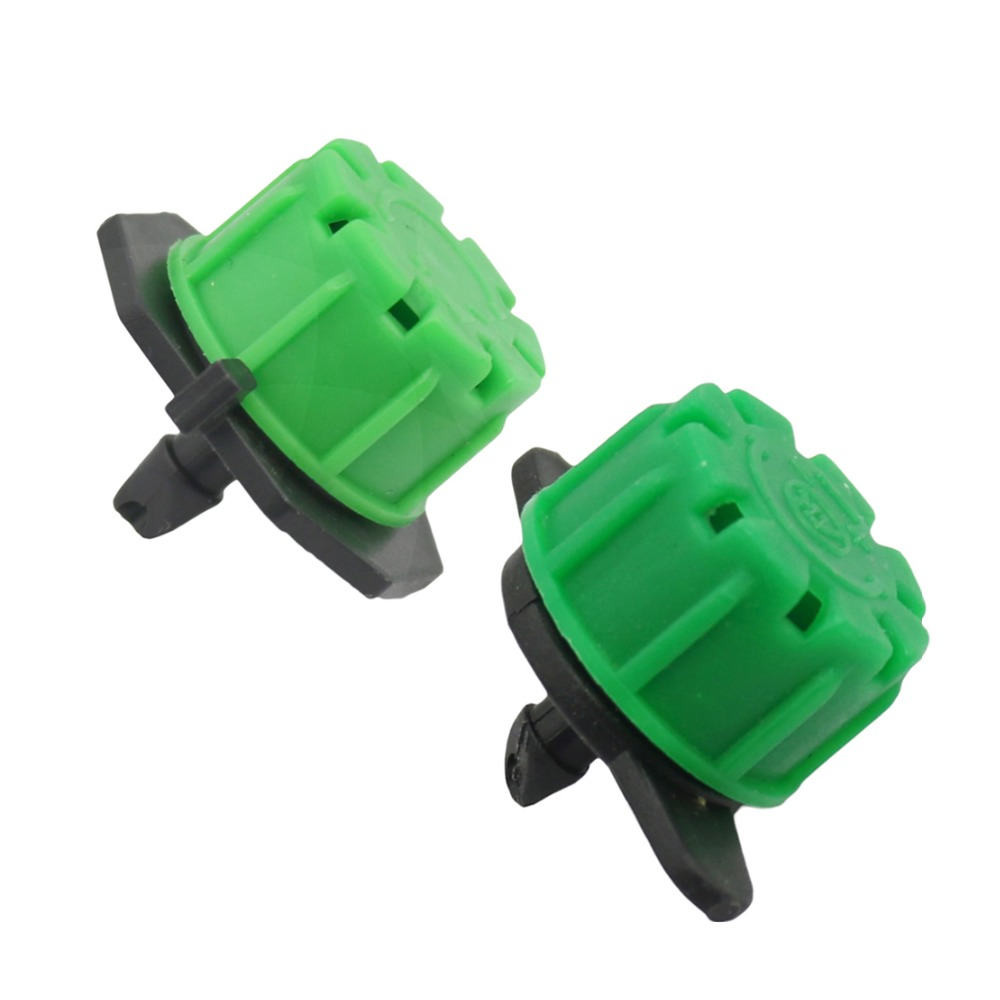 Adjustable Green Dripper Nozzle 8-hole Garden Sprinkler Irrigation System Agricultural Watering Fitting 20 Pcs
