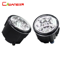 Cawanerl 2 Pieces H8 H11 Car Front Fog Light Daytime Running Light LED Light 12V DC