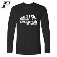 LUCKYFRIDAYF Evolution Of Ice Hockeyer T-shirt Männer Frühling Herbst Grundlegende TopTshirt Designs Langarm Mann T-shirt xxxxl