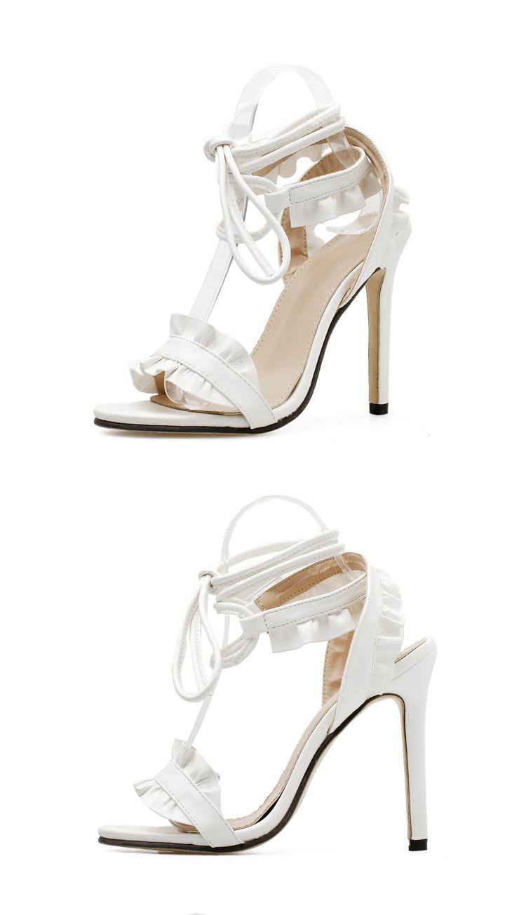 HTB1T5g5X6nuK1RkSmFPq6AuzFXah LTARTA 2019 Top Sale Sandals Women's sandals Fish-mouth Lace-crossed High-heeled Shoes PLUS SIZE 43 11.5cm heels ZL-8888-17