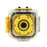 ポータブルかわいいミニ子供キッドカメラデジタルビデオカメラカメラ1.77インチスポーツ防水ニースギフト用あなた男の子女の子キッド