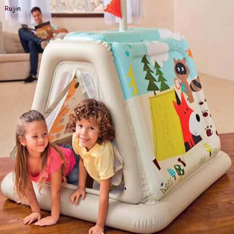 finest selection 9cd56 31285 US $34.58 |Portable Inflatable Play Tent Children Activity Fairy PVC House  kids Funny Indoor Outdoor Playhouse Beach Tent Baby playing Toy-in Toy ...