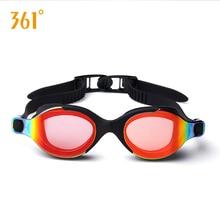 все цены на 361 Mirrored Swim Goggles Adult Professional Anti Fog UV Protection Swimming Goggles for Men Women Children Waterproof Anti Leak онлайн