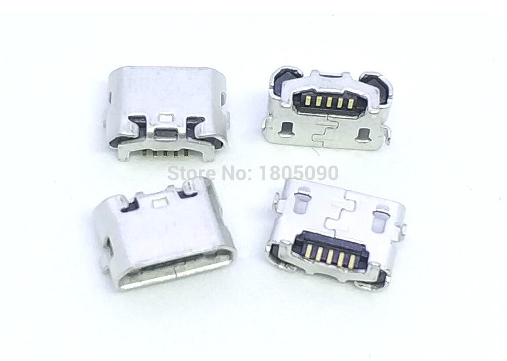 10pcs micro USB 5pin jack Reverse Ox horn Charging Port Plug socket connector mini usb For Huawei 4X Y6 4A P8 C8817 max Lite Pro