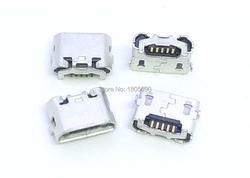 10 шт., 5pin jack micro USB, обратная рожка Ox, зарядный порт, разъем mini usb для Huawei 4X Y6 4A P8 C8817 max Lite Pro