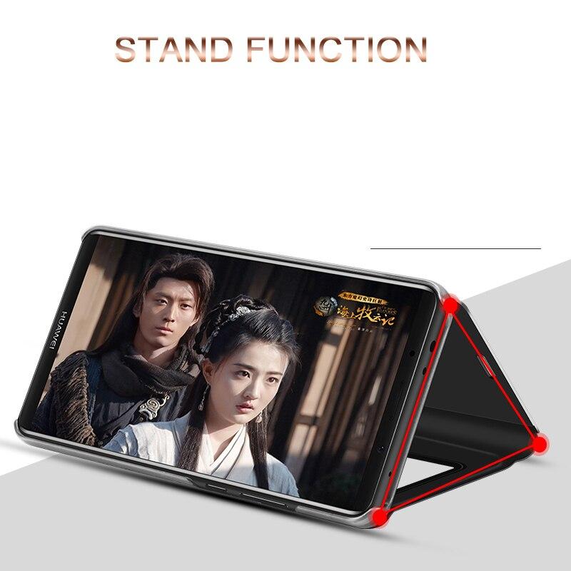 Honor 10 8 9 lite flip Case For Huawei P20 P10 P9 P8 lite 2017 Plus Mate 8 9 10 lite Pro P Smart Mirror stand Case Y6 Y7 Y9 2018