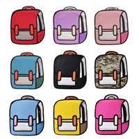 Mode Frauen Rucksack Kreative 2D Zeichnung Rucksäcke 3D Jump Stil Cartoon Schule Tasche für Mädchen Traval Rucksack Mochila Mujer