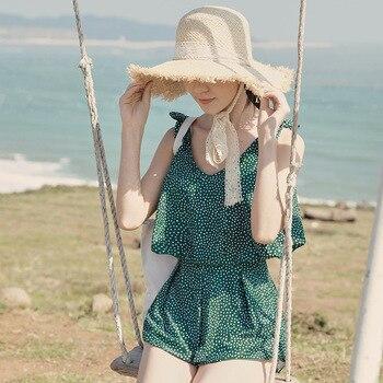 New スーパープラスサイズのスカート水着ワンピース水着ビッグ女性水着ビーチ服マイヨ · デ · ベイン