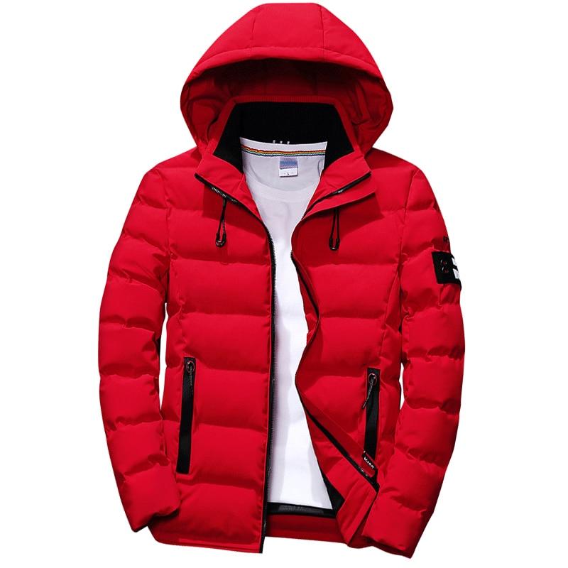 High Quality 2019 Winter Jacket Men Hooded Windbreaker And Waterproof Thick Warm Parka Coat Men Casual Winter Red Parka Jacket