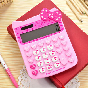 free shipping hello kitty style gigit desk cute calculator pink
