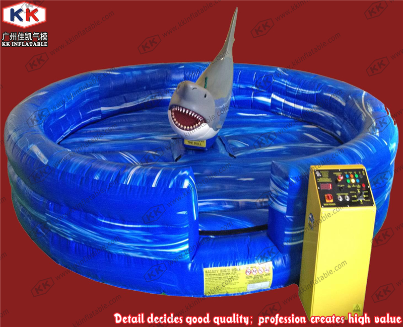 Christmas inflatables jump bullfight ride mechanical whale simulator rodeo games ...