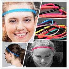 Women Yoga Hair Bands Sports Elastic Headband Girls Sport Anti-slip Hairbands Rubber Hairband Fitness Men Football Running P1613